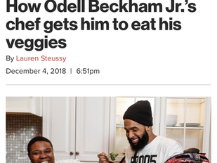Sneaking Veggies in NFL Super Star Odell Beckham Jr 's food