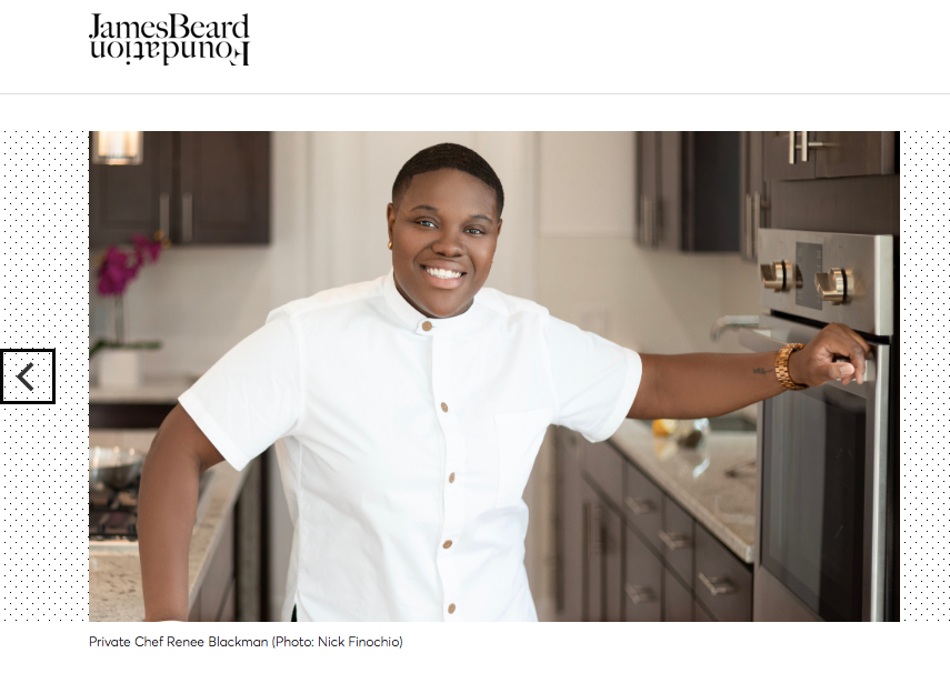 Chef Renee Blackman at The James Beard House