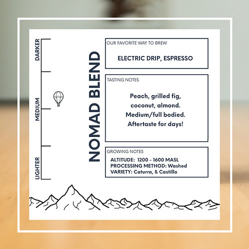 Nomad - Espresso Blend - Whole Bean