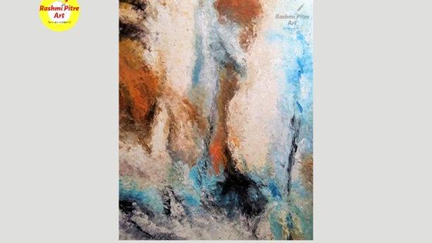 "Artist Rashmi Pitre / Untitled 1- Inscapes  II / Size - 30"" x 40"""