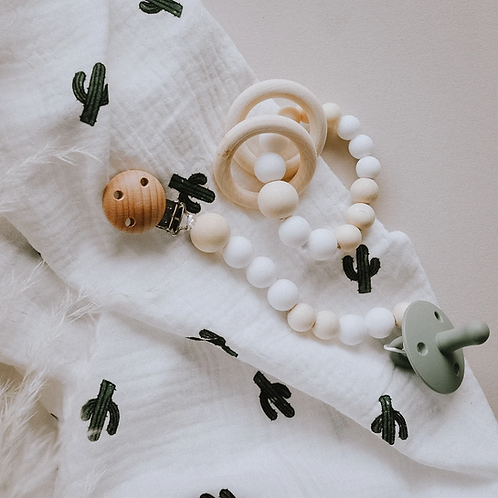 Ernest + Cali - Pretty Fly For a Cacti Baby Swaddle Blanket