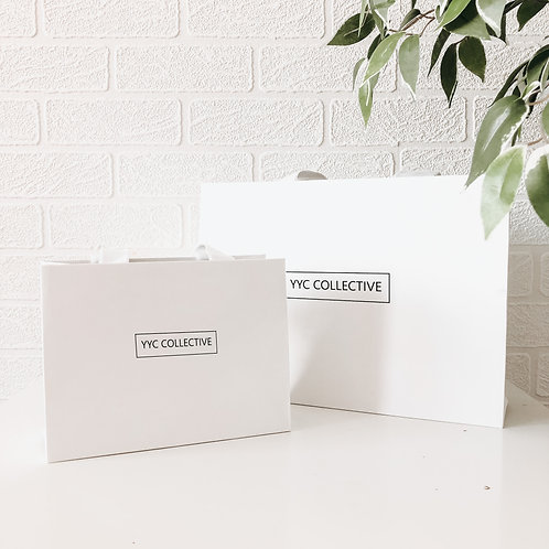YYC Collective  - White Gift Bag
