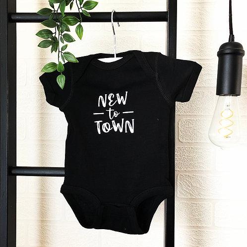 New to Town Onesie - Black