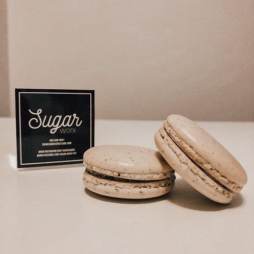 Sugar Worx - Black Sesame Macarons