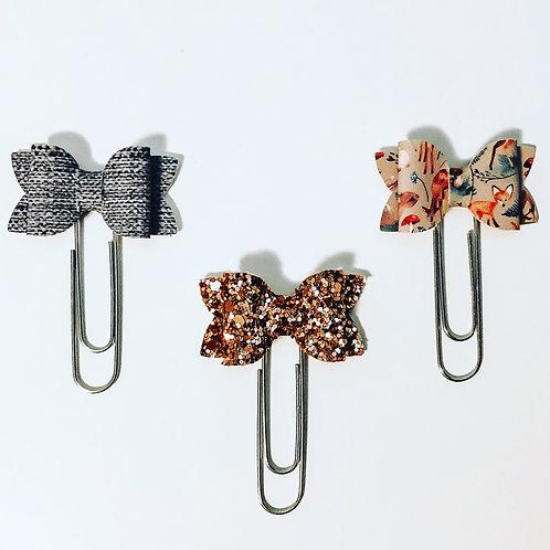 Adorn Handcrafted Co. - Bow Paper Clip Trio