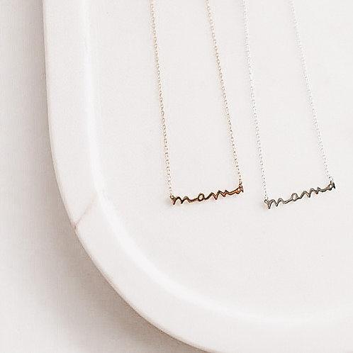 Everline +Co -Mini  Mama Necklace