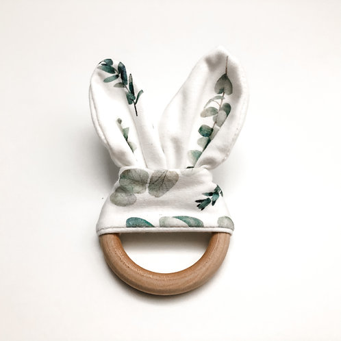 Bamboo Teething Ring - Silver Dollar Eucalyptus