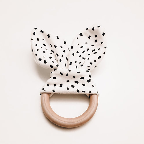 Bamboo Teething Ring - Baby Cheetah Print