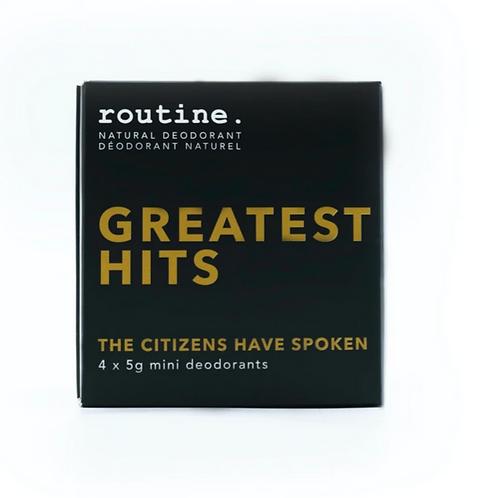 routine. Deodorant - Greatest Hits Minis Kit (4 x 5g)