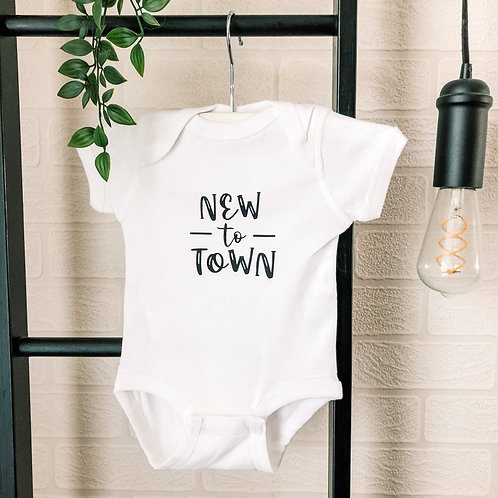 New to Town Onesie - White