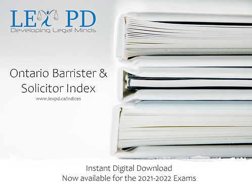 Ontario Barrister & Solicitor Index - 2021-2022