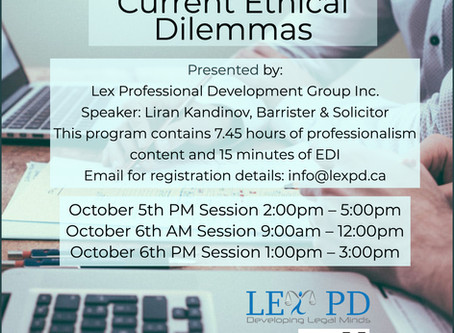 LSO CPD Professionalism and EDI credit