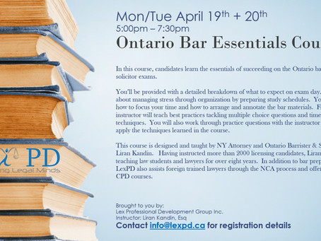 2-day Bar Essentials Course - Early bird special