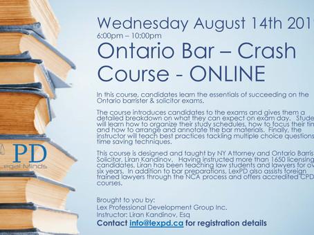 November Bar Exams - Crash Course