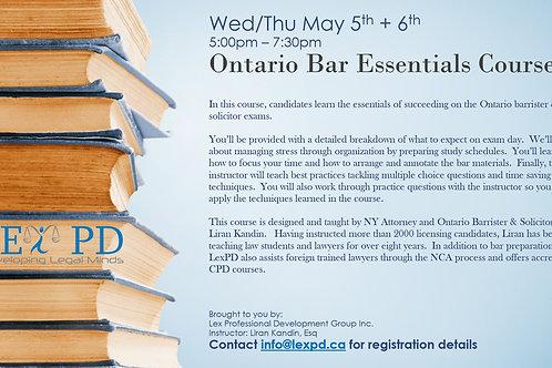 Ontario Bar Essentials Course - Early Bird