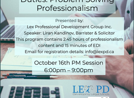 Professionalism and EDI hours
