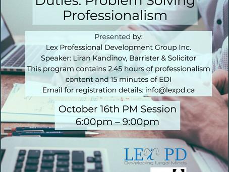 Professionalism and EDI hours