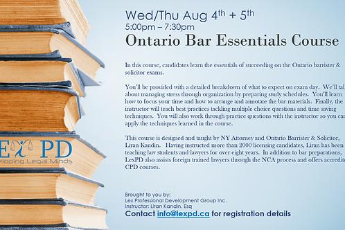 Ontario Bar Essentials Course - Regular Price