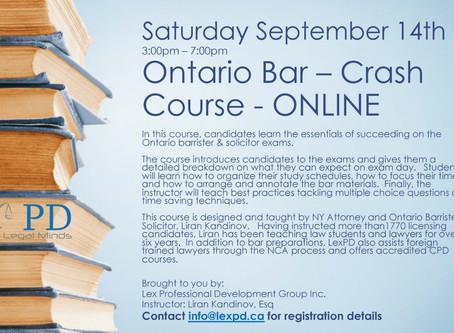 November Bar Exams - Final Crash Course