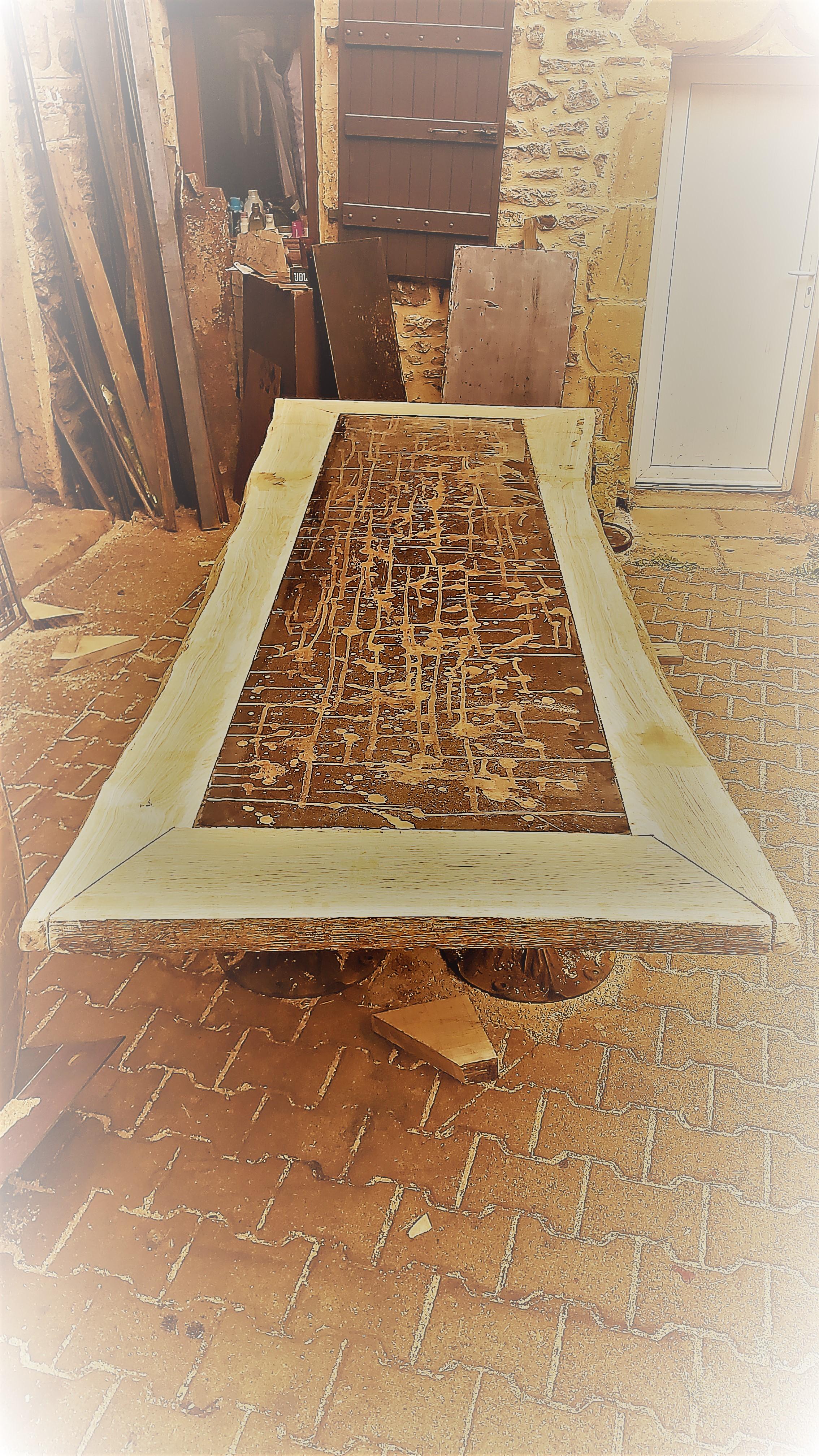 Table métal bois