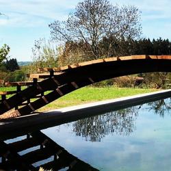 Pont métal et Bois acacia