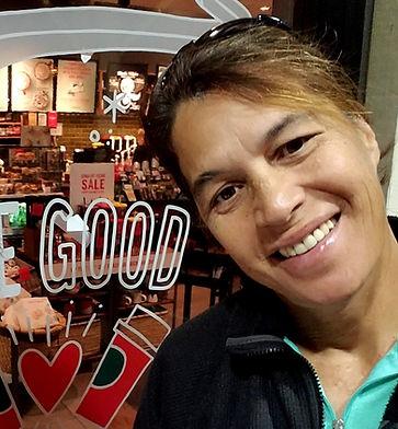 Lee Oululani Plevney at Starbucks