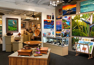 Glyph Art Gallery in Holualoa, Big Island, Hawaii