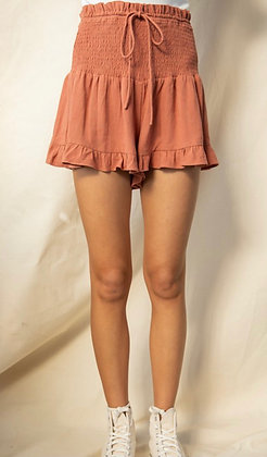 Pumpkin Smocked Shorts
