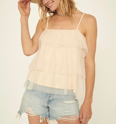 Layered Cami Sheer (available in cream / black)