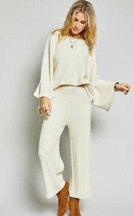 Ivory Sweater Pants Set