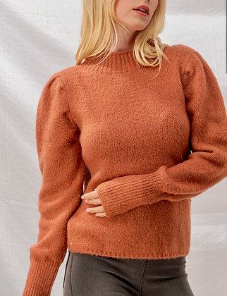 Pumpkin Tapered Sleeve Sweater