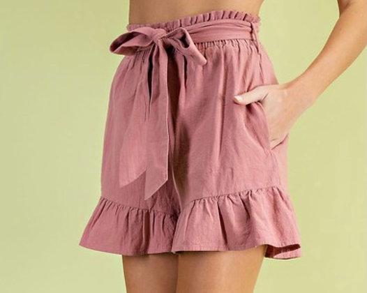 Rouge Paper Bag Shorts