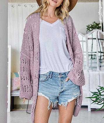 Perfect Purple Crochet Summer Cardigan