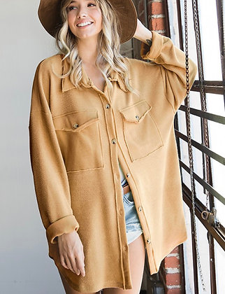 Shirt Jacket Button Up - Cappucino
