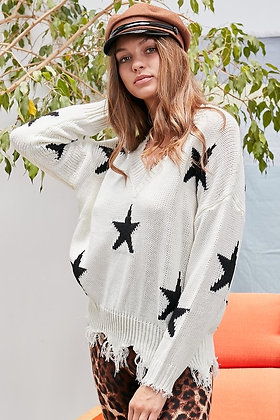 Rock Star Sweater with Fringe
