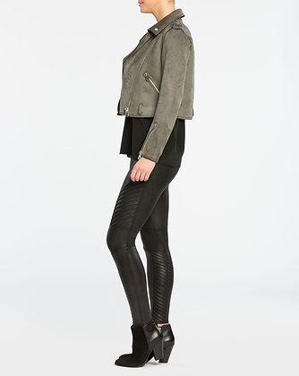 Spanx Black Faux Leather Moto Legging