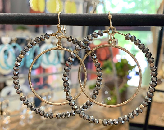 Pewter and Gold Double Hoop