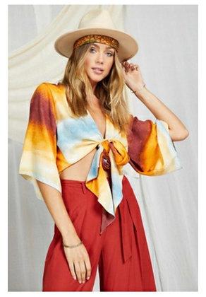 Desert Tie Dye Wrap Silk