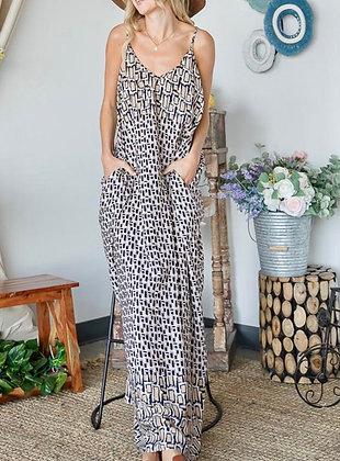 Maxi Geo Dress