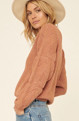 Terracotta Ribbed Sweater