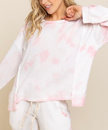 Perfectly Pink Tie Dye Top