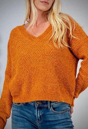 Chenille V Neck Sweater