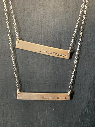 Lux + Luca - Bar Necklace
