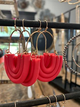 Coral Rainbow Earrings