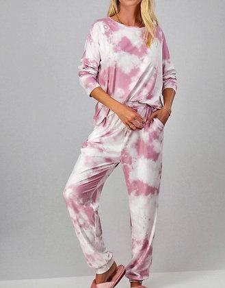 Pink Tie Dye Sweats Suite