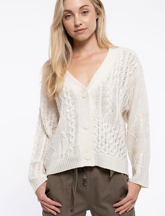 Snow Cable Cardigan