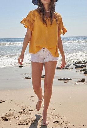 Sunshine Crinkle Cotton Top