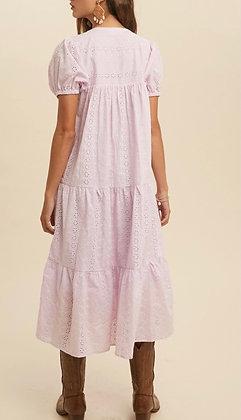 Petal Pink Ruffle Dress