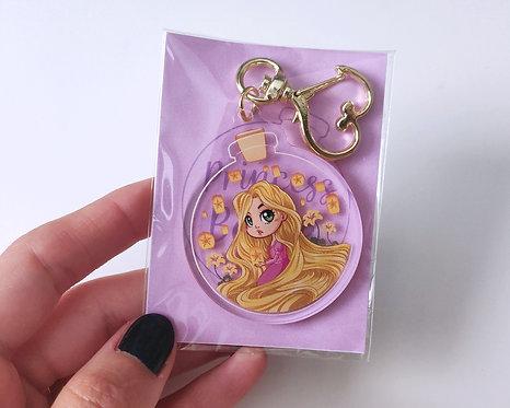 Rapunzel in a Bottle - Acrylic Charm