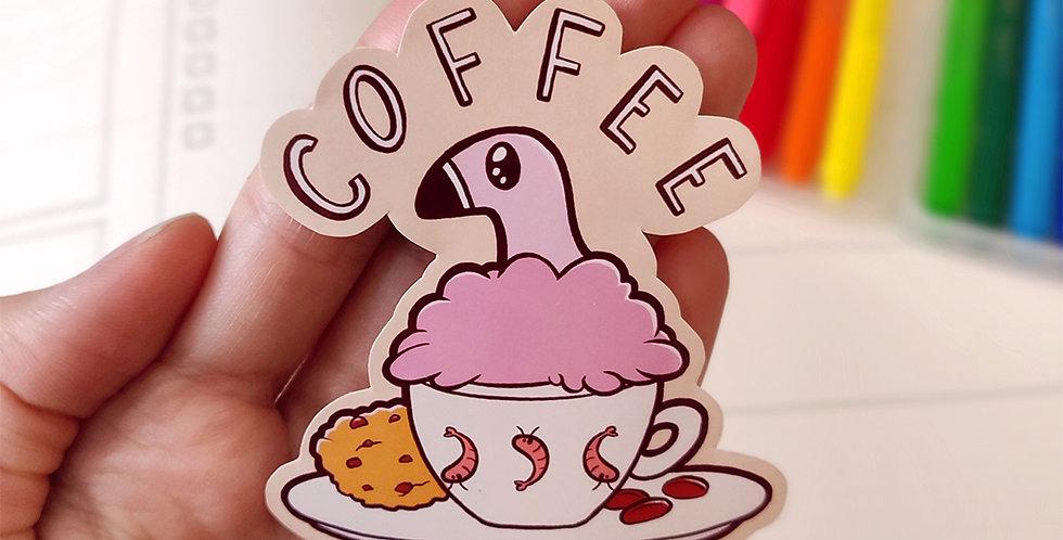 Coffee with Diu - Vinyl Sticker